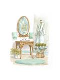 Watercolor Bath in Spa I Poster von Jerianne Van Dijk