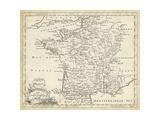 Map of France Posters par T. Jeffreys