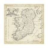 Map of Ireland Kunst av T. Jeffreys