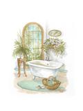 Watercolor Bath in Spa II Kunstdrucke von Jerianne Van Dijk