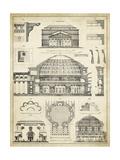 Vintage Architect's Plan III Kunstdruck von  Vision Studio