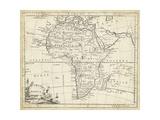 Map of Africa Poster por T. Jeffreys