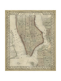 Plan of New York Plakater av  Mitchell