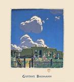 Nubes de verano Láminas por Gustave Baumann