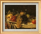 Grapes and Apples Stampe di François Miel