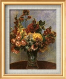Flowers in a Vase Poster di Pierre-Auguste Renoir