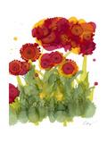 Poppy Whimsy IV Print by Cheryl Baynes