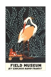 Poster for Field Museum with Giant Heron Reproduction procédé giclée