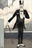 Art Deco Gentleman Pôsters por Megan Meagher
