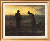The Evening Prayer (L'Angélus), c.1859 ポスター : ジャン=フランソワ・ミレー