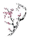 Plum Blossom Branch II Posters par Nan Rae
