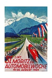 Poster for St. Moritz Car Show Giclee Print
