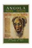 Alluring Angola Welcomes You, Travel Poster Mask Giclée-tryk