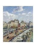 The Pont-Neuf, Paris Giclee Print by Camille Pissarro
