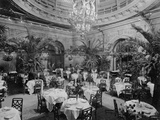 Dining Room in Waldorf-Astoria Hotel in Manhattan Photographic Print by George Boldt