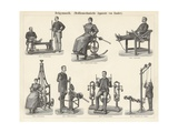 Physiotherapy Book Illustration Impressão giclée