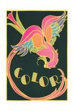Color, Fantastic Bird Reproduction procédé giclée