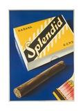Splendid Cigar, Swiss Advertising Poster Giclee Print
