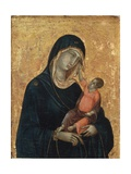 Madonna med barnet Giclée-tryk af  Duccio di Buoninsegna