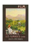 Les Fumades, Garden Folly Giclee Print