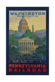 Pennsylvania Railroad Travel Poster, Washington the City Beautiful Giclée-vedos