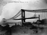 Manhattan Bridge under Construction, 1909 Reproduction photographique