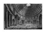 Interior View of the Pantheon Giclee Print by Francesco Piranesi