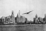 Propeller Aircraft in Chicago Reproduction photographique