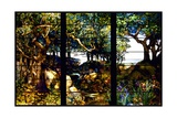A Wooded Landscape in Three Panels Giclee Print by Louis Comfort Tiffany