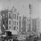 Chicago Courthouse after Great Fire Photographic Print by Lewis Wickes Hine