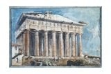 The Removal of the Sculptures from the Pediments of the Parthenon Giclee Print by Sir William Gell