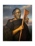 Maori Chief Tamati Waka Nene Giclee Print by Gottfried Lindauer