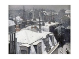 Rooftops in the Snow (Snow Effect) Giclee Print by Gustave Caillebotte