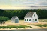October on Cape Cod Giclee-trykk av Edward Hopper