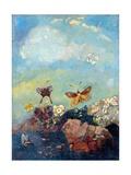 Mariposas Lámina giclée por Odilon Redon