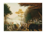 The Peaceable Kingdom Giclee-trykk av Edward Hicks