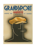 French Advertisement for Sporty Cap Giclee Print