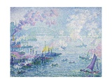 The Port of Rotterdam Gicléetryck av Paul Signac