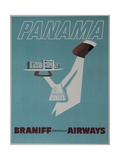Braniff Airways Travel Poster Panama Lámina giclée