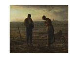 The Angelus (Prayer) Reproduction procédé giclée par Jean-François Millet