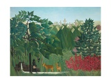 The Waterfall, 1910 Giclee Print by Henri Rousseau