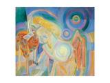 Femme Nue Lisant (Nude Woman Reading) Giclée-vedos tekijänä Robert Delaunay