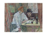 At the Caf' La Mie Giclee-trykk av Henri de Toulouse-Lautrec
