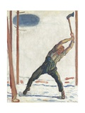 The Woodcutter Giclee Print by Ferdinand Hodler