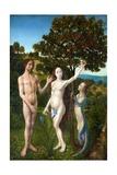 The Fall of Man and the Lamentation Giclée-Druck von Hugo Van Der Goes