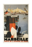 Marseille Travel Poster Giclee Print