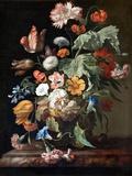 Still-Life with Flowers Lámina giclée por Rachel Ruysch