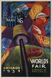 See, Hear, Play, Chicago 1934 World's Fair Poster Giclée-Druck