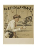 1939 Be Kind to Animals, American Civics Poster, the Cat They Left Behind Reproduction procédé giclée