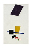 Painterly Realism of a Football Player  Color Masses in the 4th Dimension Giclée-tryk af Kasimir Malevich